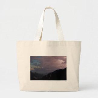 Smoky Mountain Lightning Jumbo Tote Bag