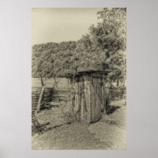 Smoky Mountain Outhouse Print