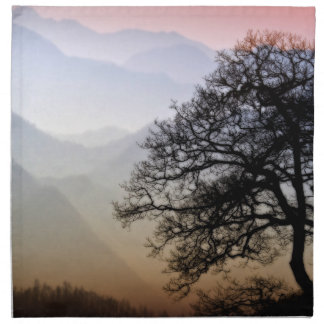 Smoky Mountain Sunset from the Blue Ridge Parkway Napkin