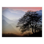 Smoky Mountain Sunset from the Blue Ridge Parkway Poster