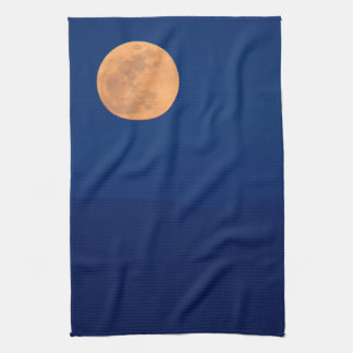 Smoky Mountains Moon Rise Tea Towel