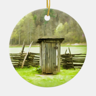 Smoky Mountains Outhouse Christmas Ornament