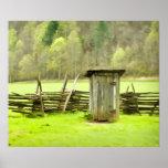 Smoky Mountains Outhouse Poster