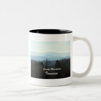 Smoky Mountains, Tennessee Two-Tone Coffee Mug