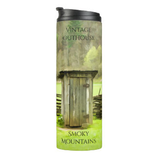Smoky Mountains Vintage Outhouse Photography Thermal Tumbler