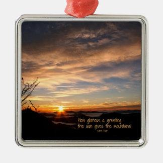 Smoky Mtn Sunrise/How Glorious… J Muir Christmas Ornament