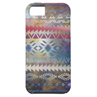 Smoky Pastel Aztec Night Sky stars pink blue mauve Case For The iPhone 5