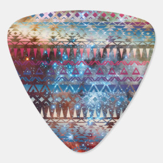Smoky Pastel Aztec Night Sky stars pink blue mauve Plectrum