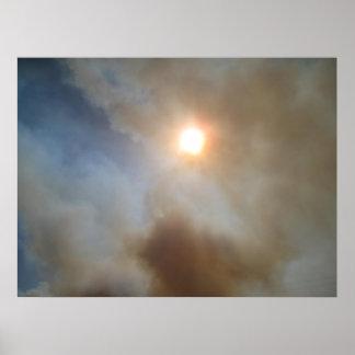 Smoky Sun Print