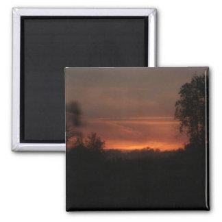 smoky sunrise refrigerator magnet