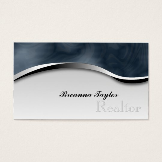 Smoky Zebra Print Realtor Realestate Business Card