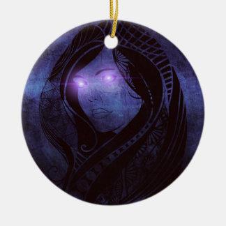 Smoldering gaze christmas ornament