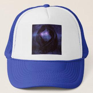 Smoldering gaze trucker hat