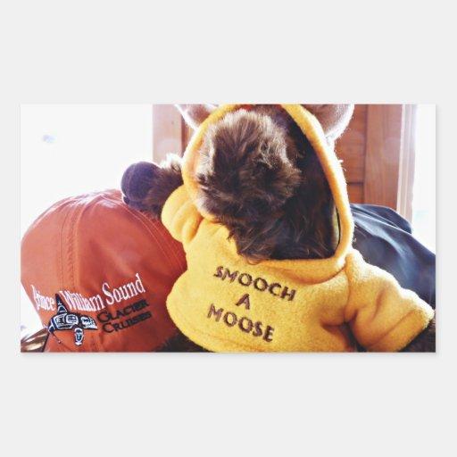 smooch a moose sticker