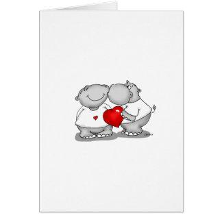 Smooch - Hippo Kiss Valentine's Day Greeting Card