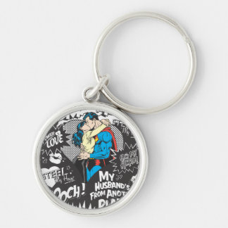 Smooch, Smack - Collage Key Ring