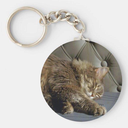 Smoochie Girl Kitty (#1) Basic Round Button Key Ring