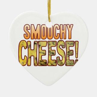 Smoochy Blue Cheese Ceramic Heart Decoration