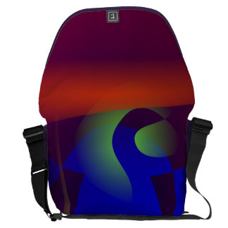 Smooth and Clear-Cut Abstract Painting Messenger Bags