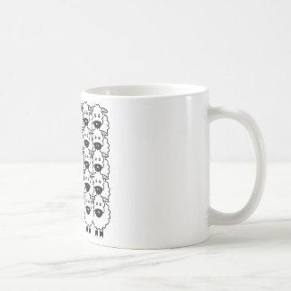 Smooth-Coated Border Collie in the Sheep Basic White Mug