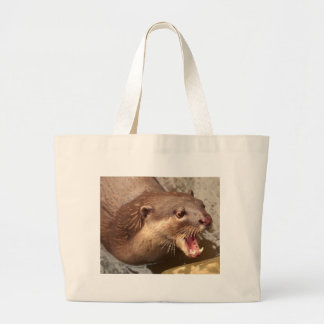 Smooth Coated Otter Large Tote Bag