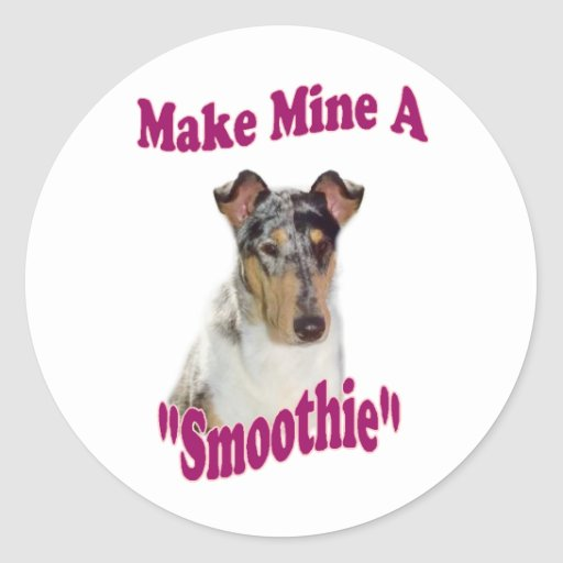 Smooth Collie Gifts Classic Round Sticker