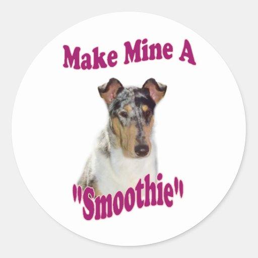 Smooth Collie Gifts Round Sticker