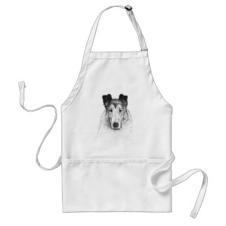 Smooth Collie grooming apron