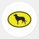 Smooth Collie Round Sticker