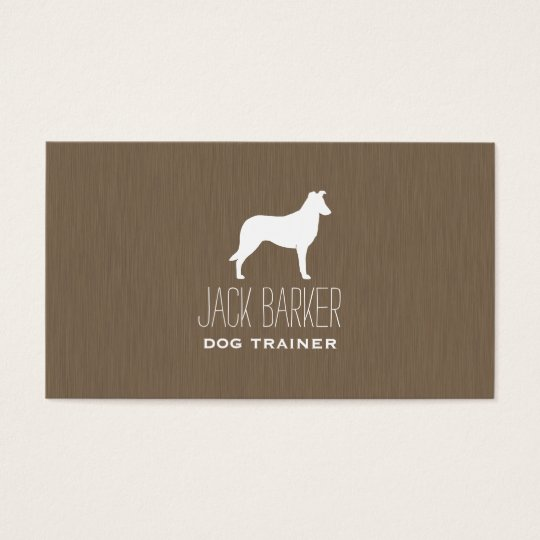 Smooth Collie Silhouette Business Card