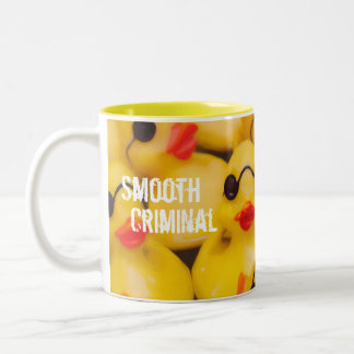 Smooth Criminal Rubber Duckie Two-Tone Coffee Mug