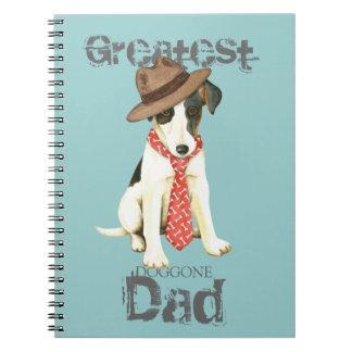 Smooth Fox Terrier Dad Spiral Notebooks