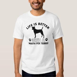 Smooth Fox Terrier dog breed designs T-shirt