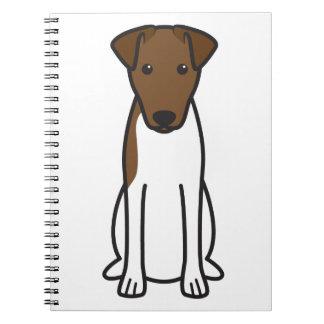 Smooth Fox Terrier Dog Cartoon Note Book