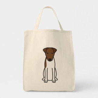 Smooth Fox Terrier Dog Cartoon Tote Bag