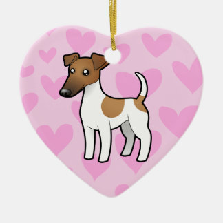 Smooth Fox Terrier Love Christmas Ornament