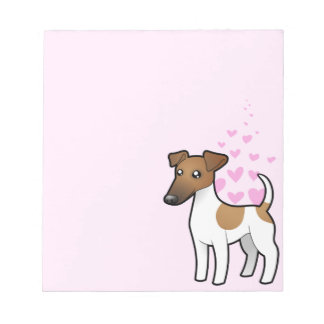 Smooth Fox Terrier Love Notepad