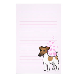 Smooth Fox Terrier Love Stationery