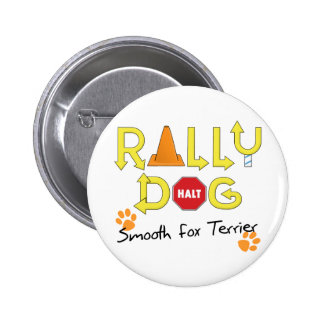 Smooth Fox Terrier Rally Dog 6 Cm Round Badge