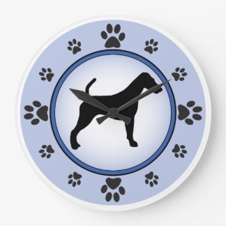 Smooth Fox Terrier Sihouette Large Clock