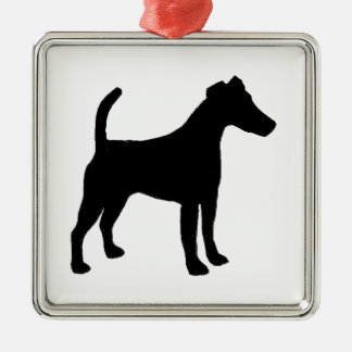 Smooth Fox Terrier silhouette Christmas Ornament