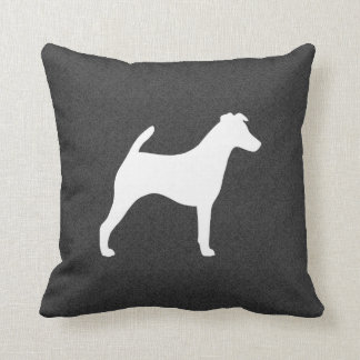 Smooth Fox Terrier Silhouette Cushion