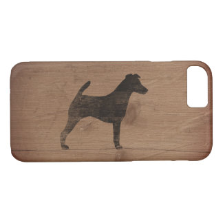 Smooth Fox Terrier Silhouette Rustic iPhone 8/7 Case