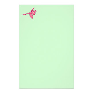 Smooth Fuschia Dragonfly Stationery