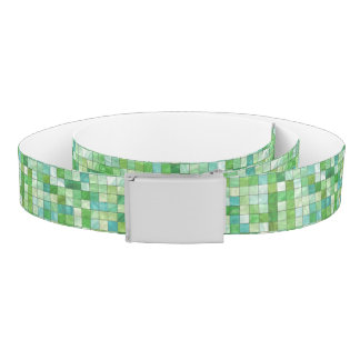 Smooth irregular green background belt