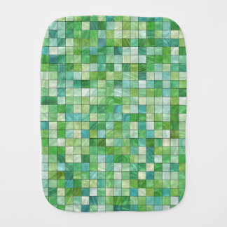 Smooth irregular green background burp cloth