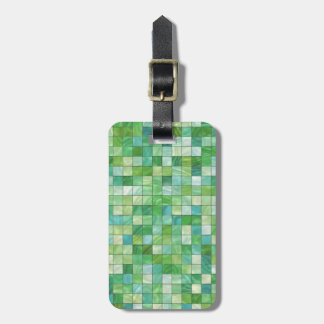 Smooth irregular green background luggage tag