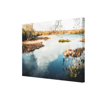 Smooth Lake Gallery Wrapped Canvas