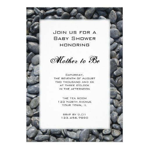 Smooth Pebbles Baby Shower Invitation