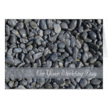 Smooth Pebbles Blended Family Wedding Greeting Card